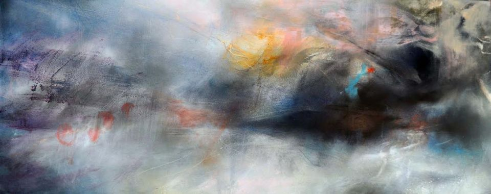 Float Mixed Media on Canvas 40x100cm