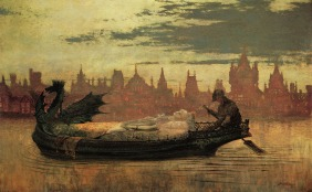 John-Atkinson-Grimshaw-Paintings-The-Lady-of-Shalott