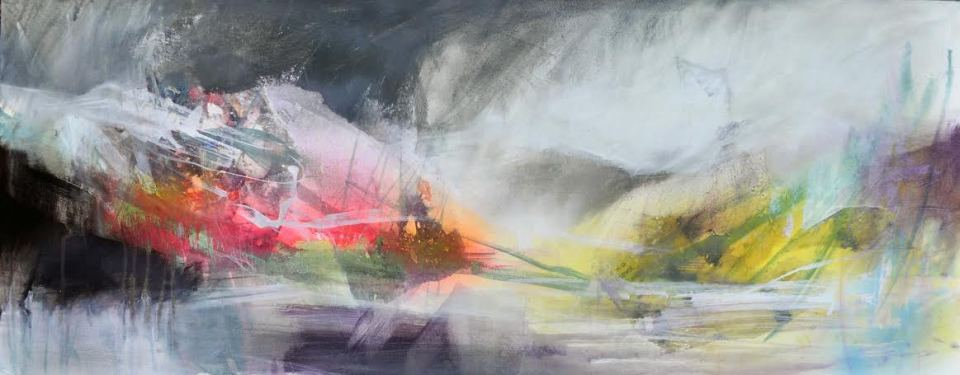 Renewal Mixed Media on Canvas 40x100cm