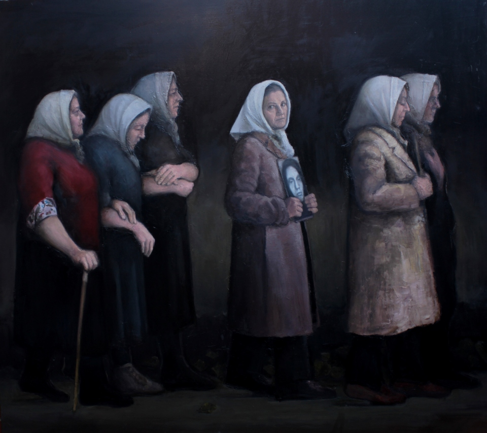 Andres Jaroslavsky. Madres. Oil on canvas, 1.80 x 2 meters