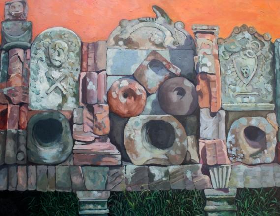 Ray Fearn, 'Coldingham'. Oil on canvas, 1995.