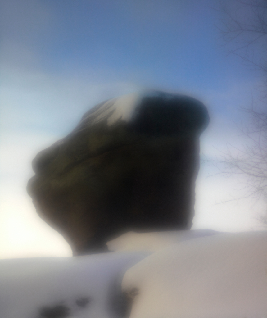 Chris Ireland, 'Brimham Rocks in Snow'. Image copyright the artist,  2014.