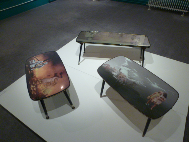 'Haunt I', 1967 and 'Haunt II', 1973 - Coffee tables and digital montage.