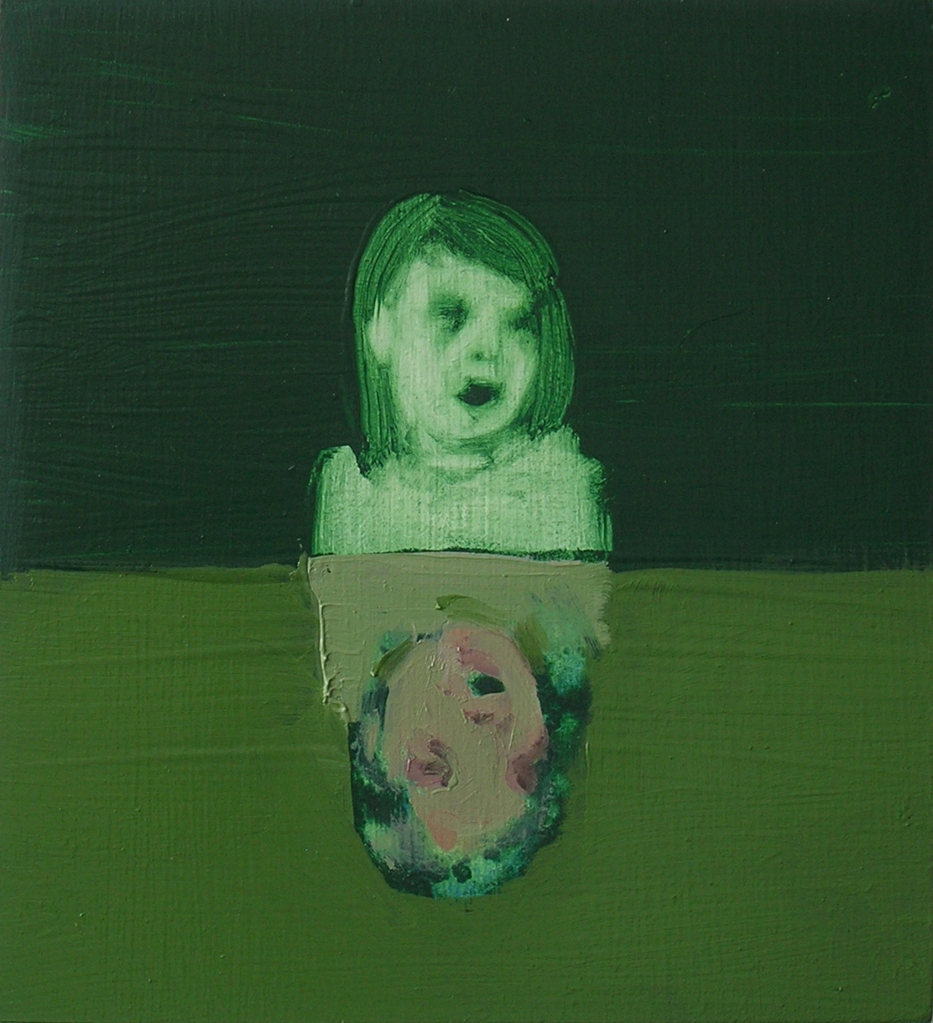 Andrew Munoz, 'Upside down', 2008. Oil on board, 15 x 13 cm. Copyright the artist.