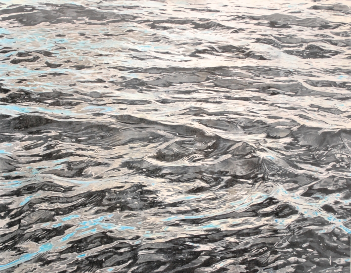 Harvey Taylor, 'The Sea at Mersea', 2012. Oil on canvas,  60 cm x 100 cm. Copyright the artist.
